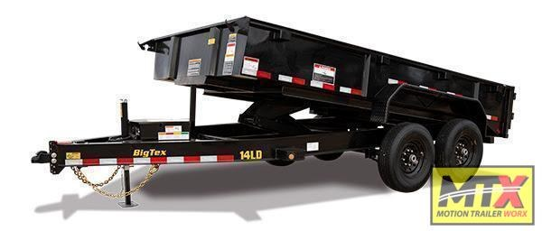 2021 Big Tex 7x14 LD 14K Economy Low Profile Dump w/ Slide-In Ramps