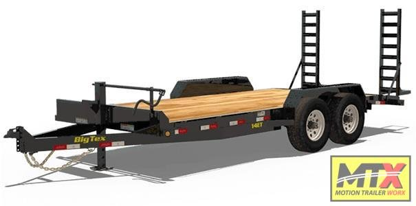 2021 Big Tex 18' 14ET 14K Equipment Trailer w/ Fold Up Ramps