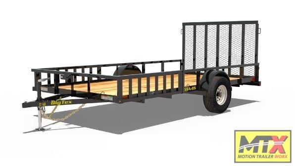 2021 Big Tex 7x1414 RSX ATV Trailer w/ Side Ramps & 4' Spring