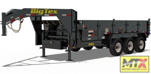 2021 Big Tex 7x16 21GX Low Pro 21K Dump w/ Slide in Ramps