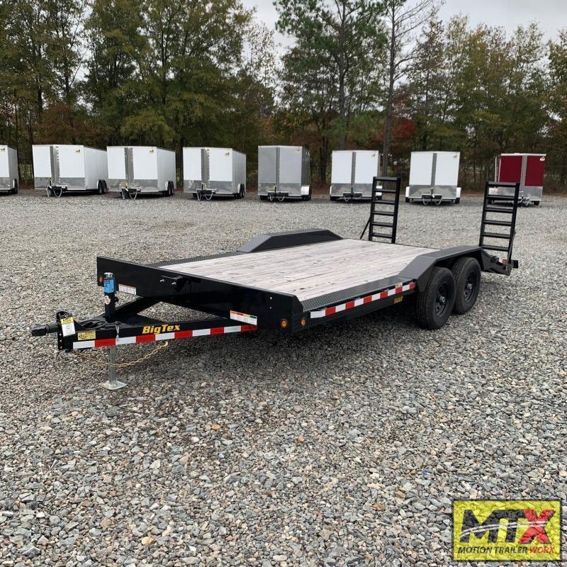 2020 Big Tex 18' 10DF 10K Equipment Trailer w/ Fold Up Ramps