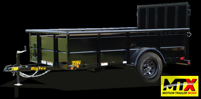 2021 Big Tex 6x12 35SV w/ Solid Sides & 4' Spring Assist Gate
