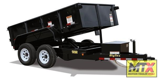 2022 Big Tex 6x10 90SR 10K Dump w/ Slide in Ramps & Tarp