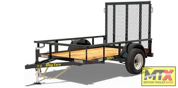 2020 Big Tex Trailers 5x12 30SA w/ 4' Spring Assist Tailgate Utility Trailer