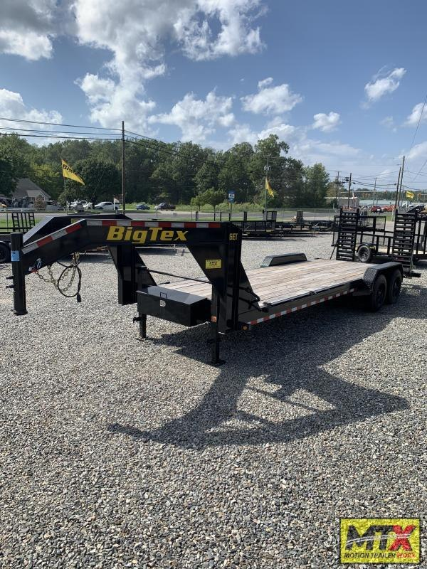 2020 Big Tex 21+3 16ET 17.5K Gooseneck Equipment Trailer w/ Fold Up Ramps