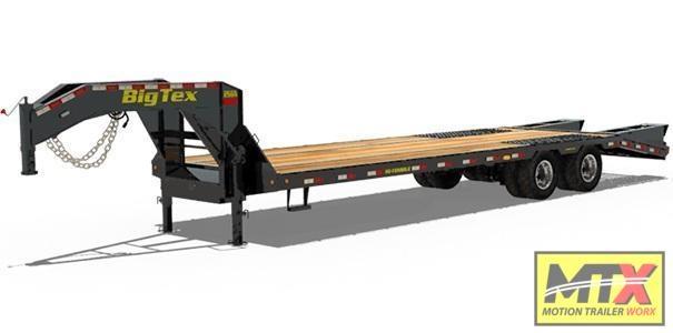 2021 Big Tex 55+5 25GN Gooseneck w/ Mega Ramps 25900 GVWR