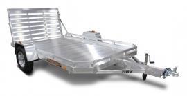 2021 Aluma 7712H Utility Trailer Heavy Single Axle with Bi-Fold Tailgate