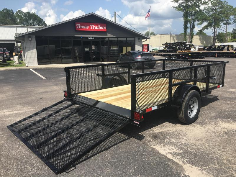 "LM61235 TEXAS TRAILERS 6'4""X12' LAWN MAINTENANCE TRAILER"