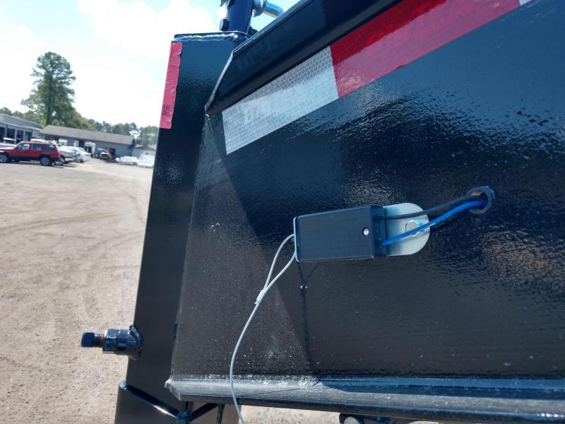 25DU-20 BIG TEX 20' DUAL TANDEM GOOSENECK DUMP TRAILER W/ ROLLER ARM TARP ASSEMBLY