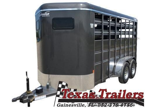 2021 Delta Manufacturing 500 Combo 6' X 14'  Livestock / Horse 7' Tall' Trailer
