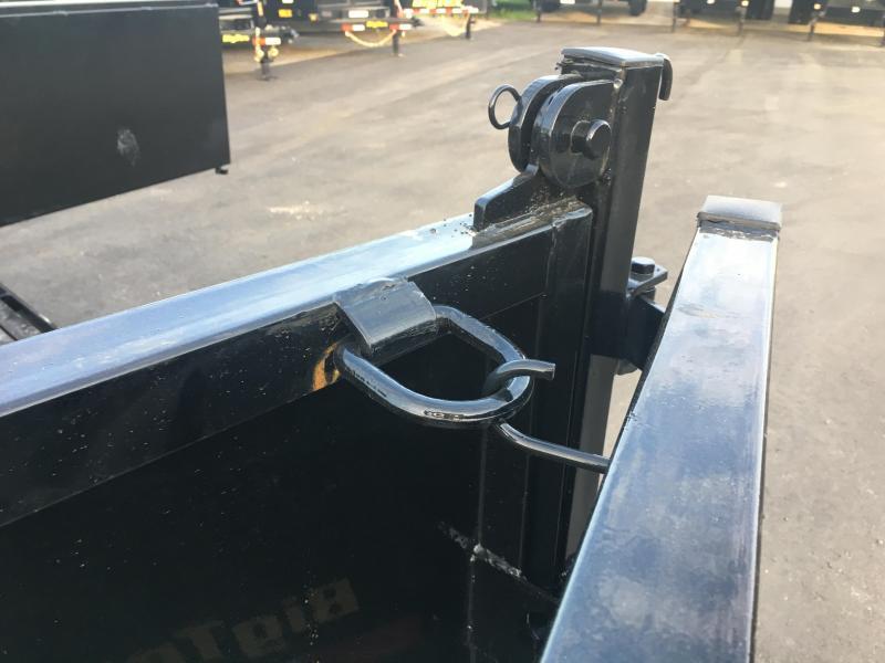 14LP-12 BIG TEX 7' X 12' DUMP TRAILER W/ TARP & COMBO REAR GATE W/ 6' SLIDE IN RAMPS