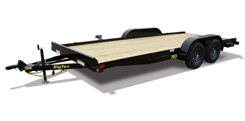 70CH-18BK BIG TEX 18' WOOD DECK CAR HAULER