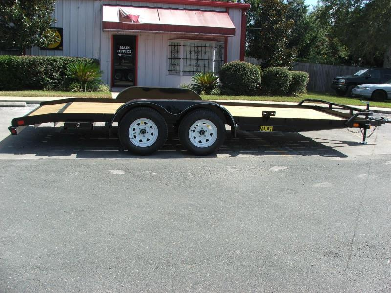 70CH-18BK BIG TEX 18' WOOD DECK CAR HAULER