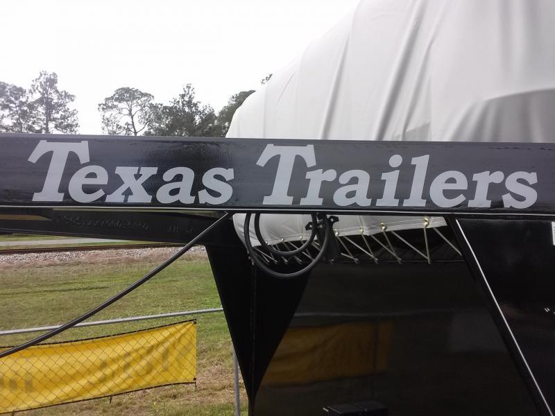 ST1270G TEXAS TRAILERS 12' GOOSENECK STOCK TRAILER