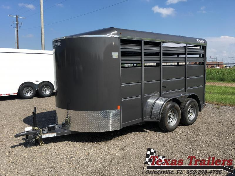 2021 Delta Manufacturing 500ES-B 16 ' Livestock Trailer