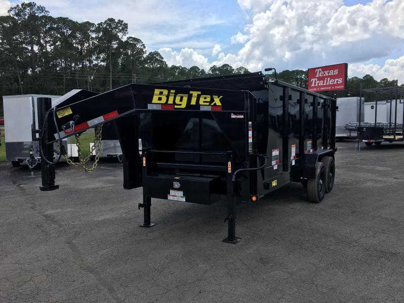 14GX-16BK-P4 BIG TEX 7' X 16' DUMP TRAILER W/ 4' SIDES