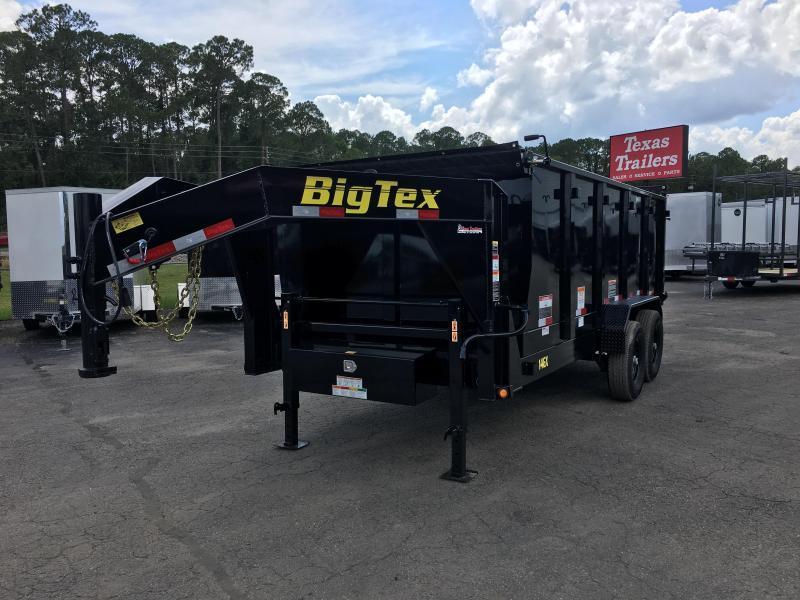 14GX-14BK-P4 BIG TEX 7' X 14' DUMP TRAILER W/ 4' SIDES
