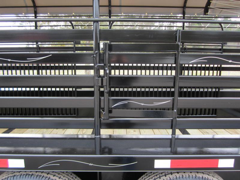 ST2414G TEXAS TRAILERS 24' GOOSENECK STOCK TRAILER