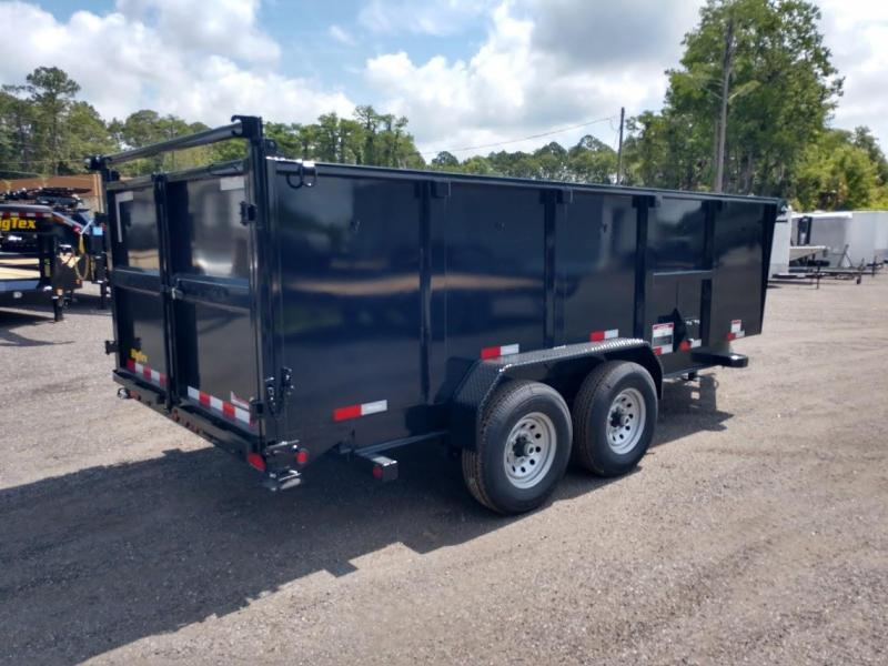 14LP-16BK6-P4 BIG TEX 7' X 16' DUMP TRAILER W/ TARP & 4' TALL SIDES