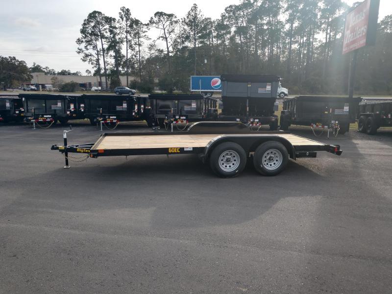 60EC-16BK BIG TEX 16' CAR HAULER W/ SLIDE OUT RAMPS