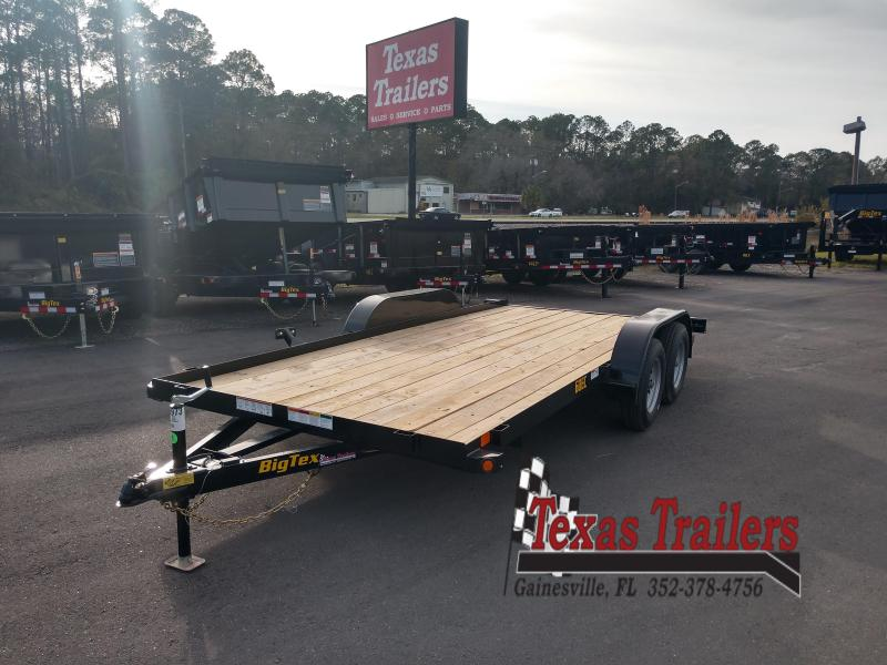 60EC-16BK BIG TEX 16' CAR HAULER W/ SLIDE OUT RAMPS