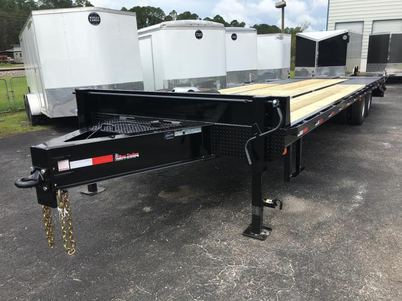 FB3020B TEXAS TRAILERS 30' BUMPER PULL DECK OVER FLATBED SHOWN W/ CUSTOM OPTIONS