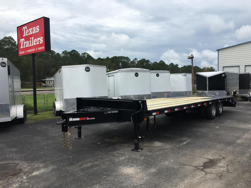 FB3020B TEXAS TRAILERS 30' BUMPER PULL DECK OVER FLATBED SHOWN W/ MEGA RAMPS