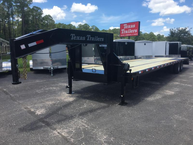 FB4024G TEXAS TRAILERS 40' GOOSENECK DECK OVER FLATBED SHOWN W/ CUSTOM OPTIONS