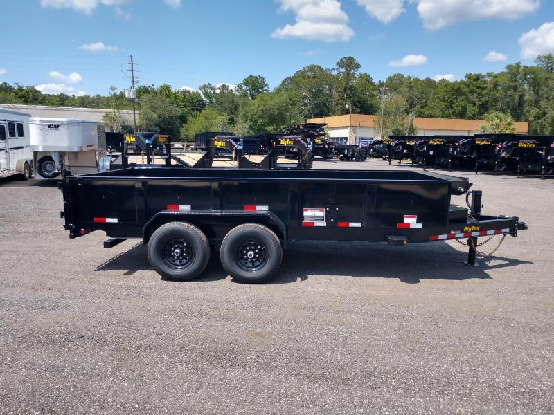 14LP-16 BIG TEX 7' X 16' DUMP TRAILER W/ TARP & COMBO REAR GATE W/ 6' SLIDE IN RAMPS