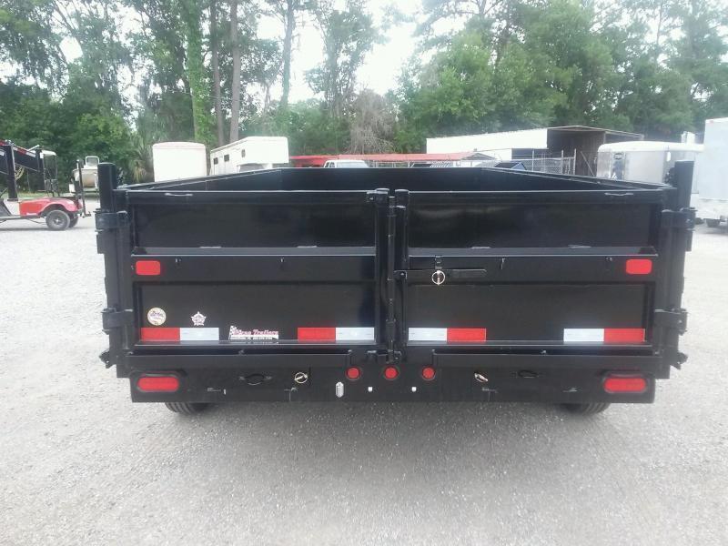 14LX-16 BIG TEX 7' X 16' DUMP TRAILER W/ 7X18 TARP & COMBO REAR GATE W/ 7' SLIDE IN RAMPS
