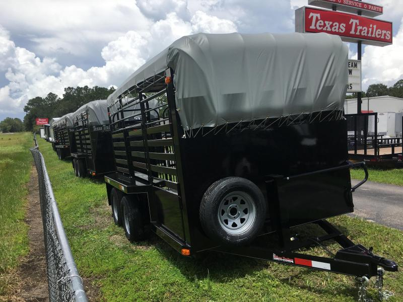 ST1270B TEXAS TRAILERS 12' BUMPER PULL STOCK TRAILER