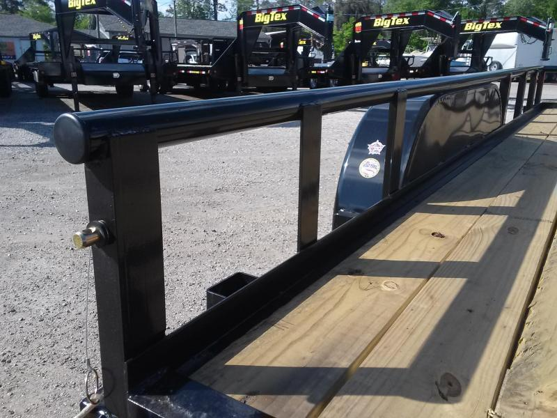 """70PI-16BK4RG BIG TEX 6'11"""" X 16' PIPE UTILITY TRAILER W/ TAILGATE AND BRAKES ON BOTH AXLES"""