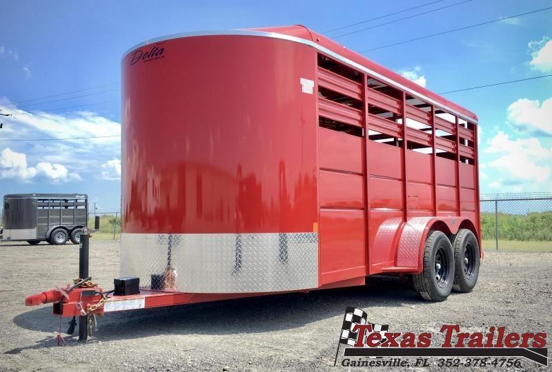 2021 Delta Manufacturing 500ES-B  16' Livestock Trailer