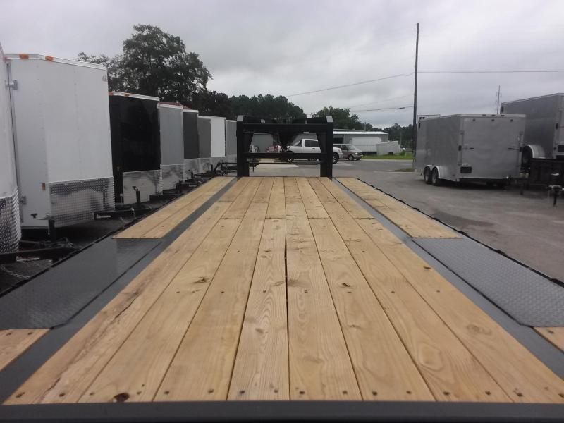 14GN-25BK+5MR BIG TEX 30' GOOSENECK TANDEM FLAT BED W/ MEGA RAMPS & FREE SPARE TIRE