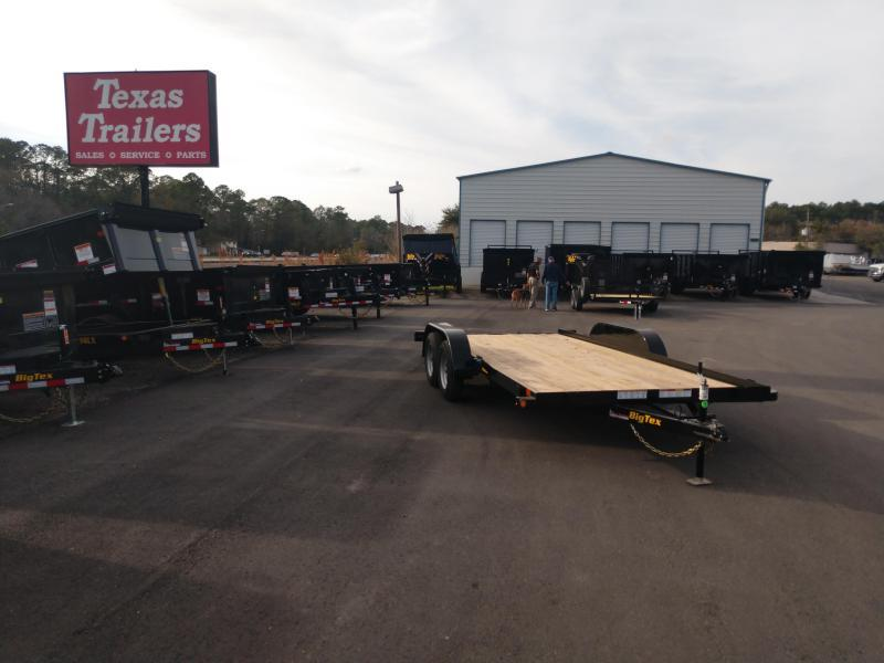 60EC-18BK BIG TEX 18' CAR HAULER W/ SLIDE OUT RAMPS