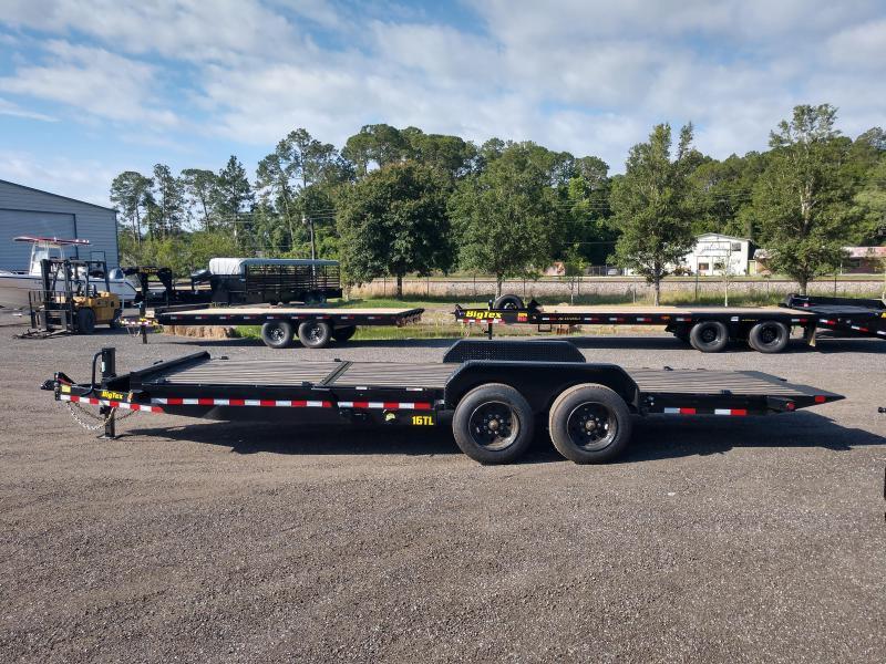 16TL-22BK BIG TEX 22' TANDEM AXLE TILT TRAILER W/ BLACKWOOD FLOORING