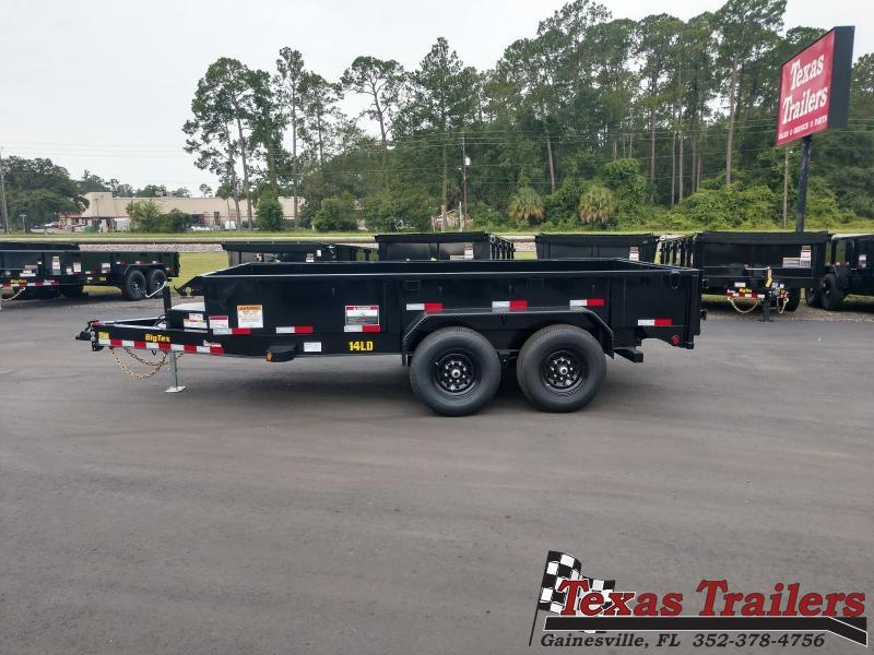 14LD-14BK 7X14 BIG TEX LOW PROFILE DUMP TRAILER