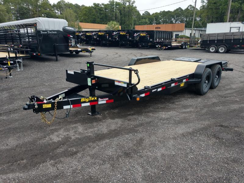 14ET-22BK-MR BIG TEX 22' TANDEM AXLE EQUIPMENT TRAILER W/ MEGA RAMPS