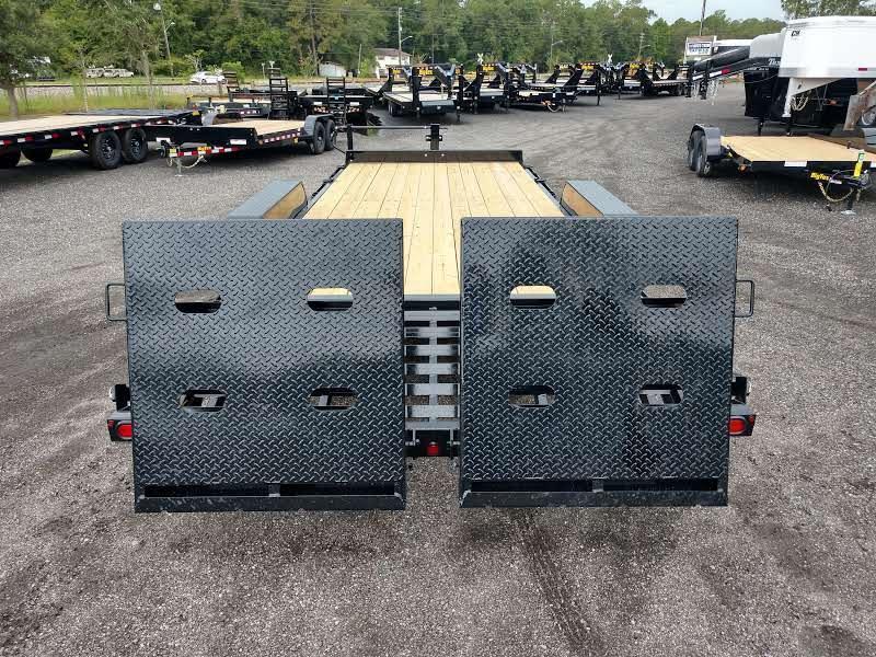14ET-22BK-MR BIG TEX 22' TANDEM AXLE EQUIPMENT TRAILER W/ MEGA RAMPS
