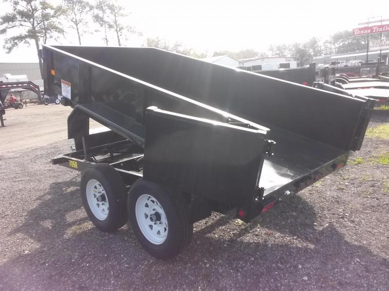 70SR-10-5WDD BIG TEX 5' X 10' DUMP TRAILER W/ DOUBLE REAR DOORS