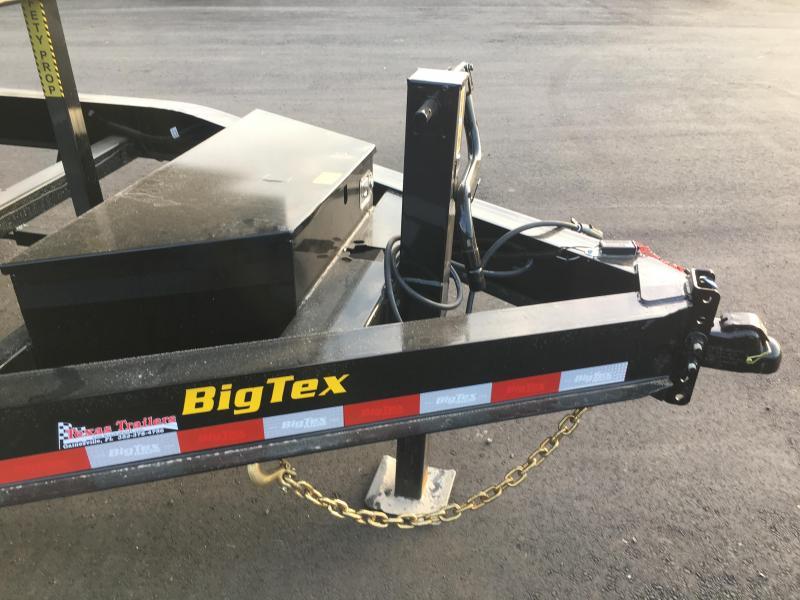 14LP-14 BIG TEX 7' X 14' DUMP TRAILER W/ TARP & COMBO REAR GATE W/ 6' SLIDE IN RAMPS