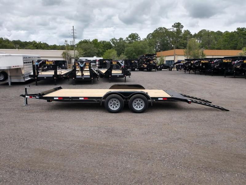 CH1870 TEXAS TRAILERS 18' CAR HAULER W/ SLIDE OUT RAMPS
