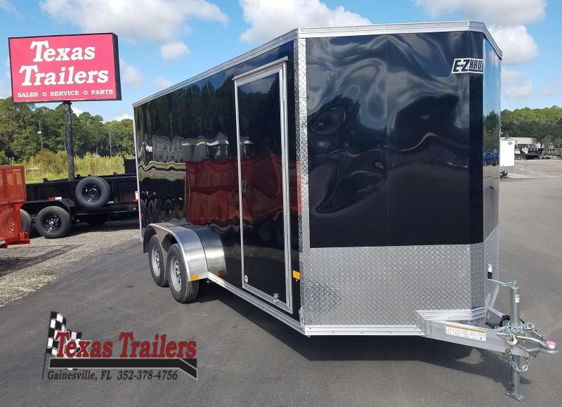 2022 All Aluminum Frame Mission EZEC 7 X 16 Enclosed Cargo Trailer V-Nose / Side Door / Ramp Door