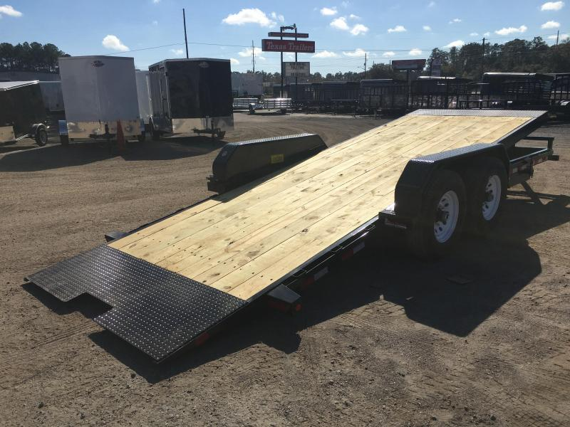 14FT-20BK BIG TEX 20' TANDEM AXLE TILT DECK EQUIPMENT TRAILER
