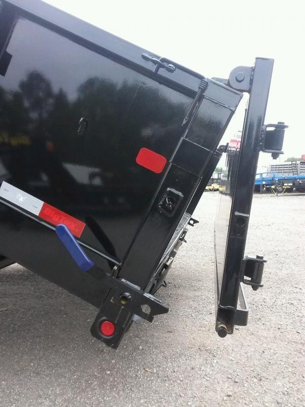 14LX-12 BIG TEX 7' X 12' DUMP TRAILER W/ 7X18 TARP & COMBO REAR GATE W/ 7' SLIDE IN RAMPS