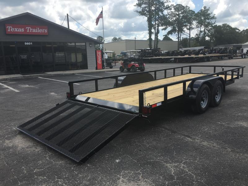 "UT62010 TEXAS TRAILERS 6'10""X20' UTILITY TRAILER W/ CUSTOM OPTIONS"