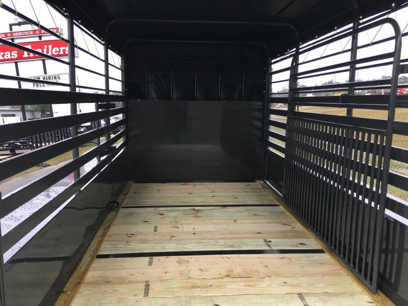 ST1270B TEXAS TRAILERS 12' BUMPER PULL STOCK TRAILER
