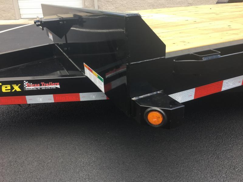 16ET-17+3 BIG TEX 22' EQUIPMENT TRAILER WITH STAND UP RAMPS