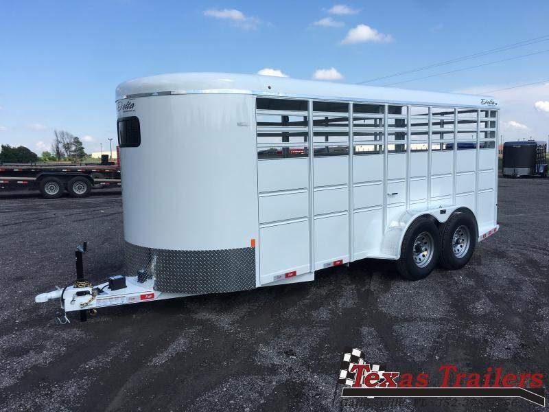 2021 Delta Manufacturing 500BT 16' Livestock Trailer