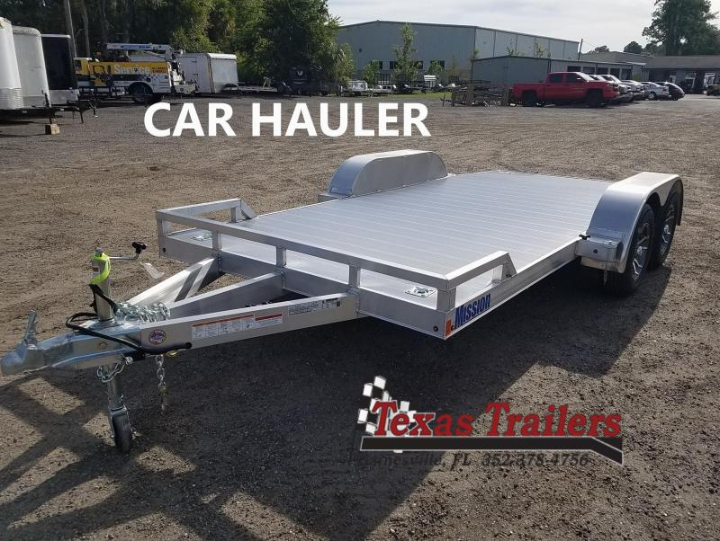 MOCH 8 X 16 MISSION 16' ALUMINUM CAR HAULER W/ 6' RAMPS